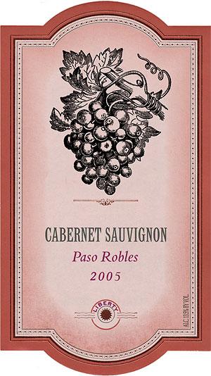 шаблон этикетки вина
