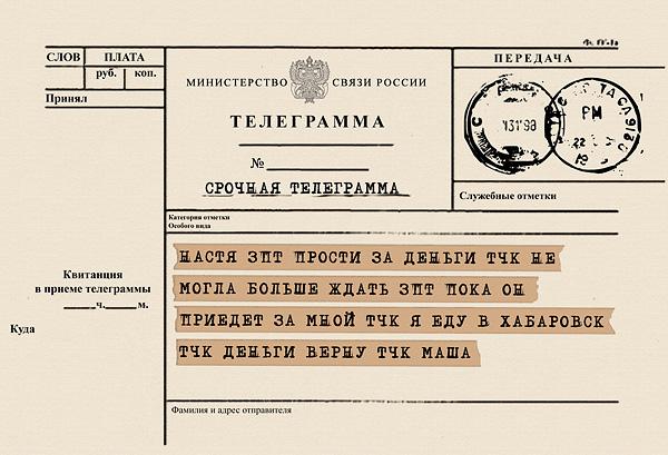 телеграмма шаблон