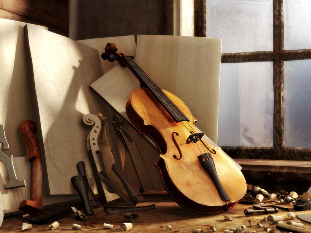"""обои для рабочего стола """"Скрипка"""""""