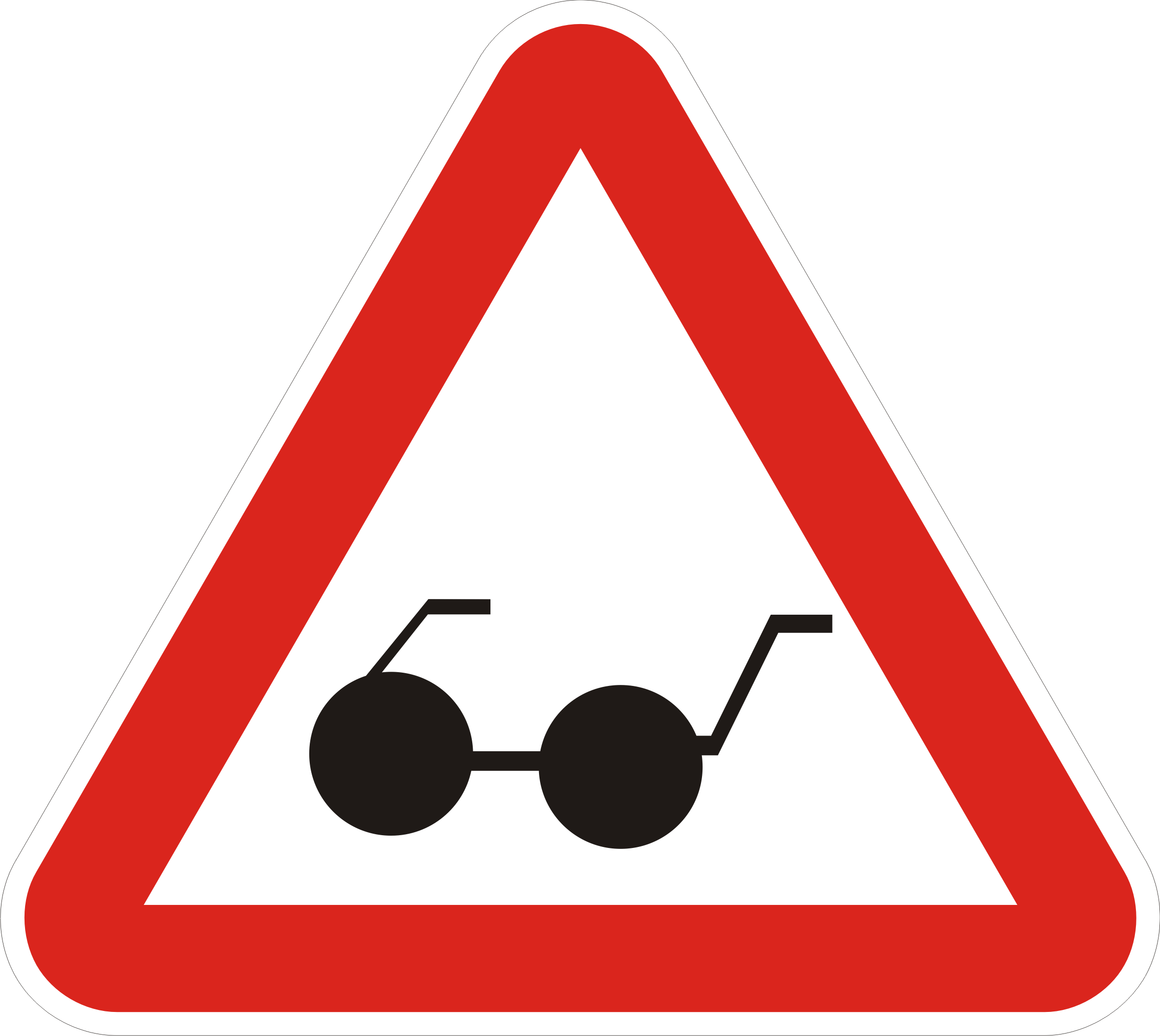 ослепший водитель треугольник