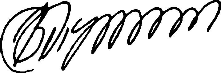 Подпись Владимира Владимирович Путина