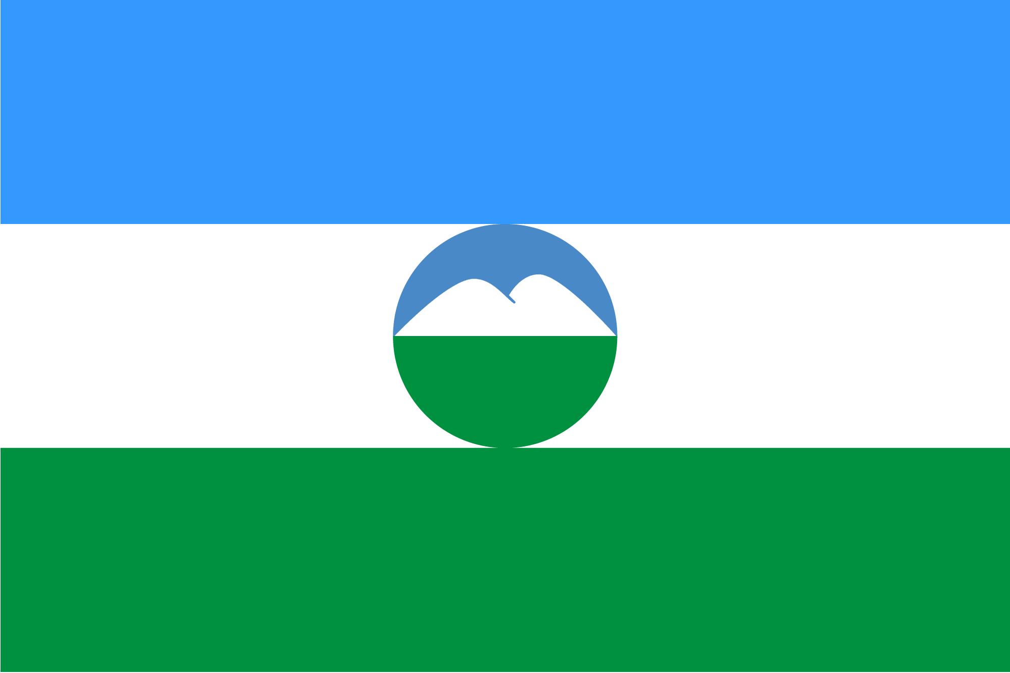 Кабардино-Балкарский флаг
