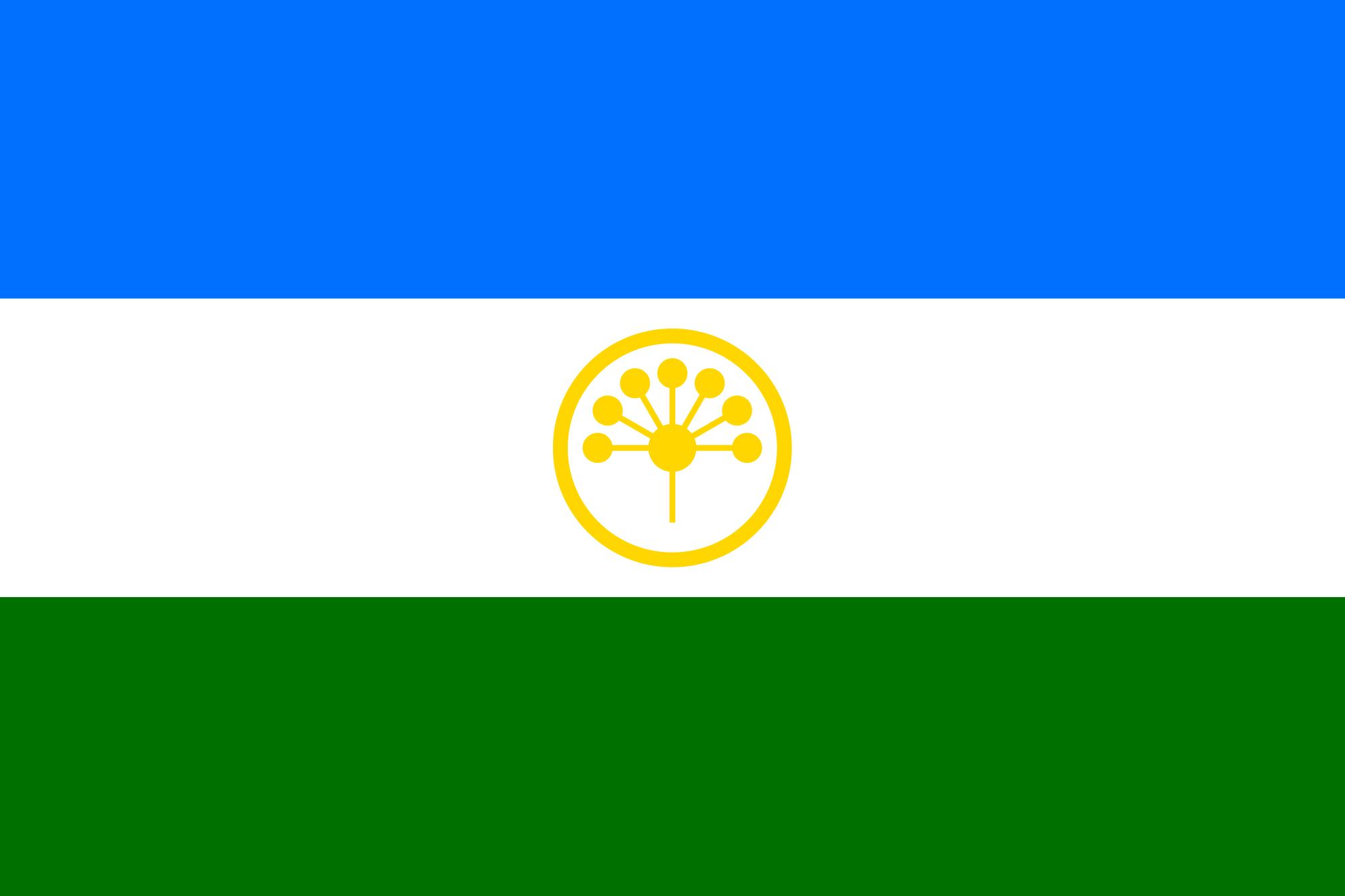 Флаг Республики Башкортостан