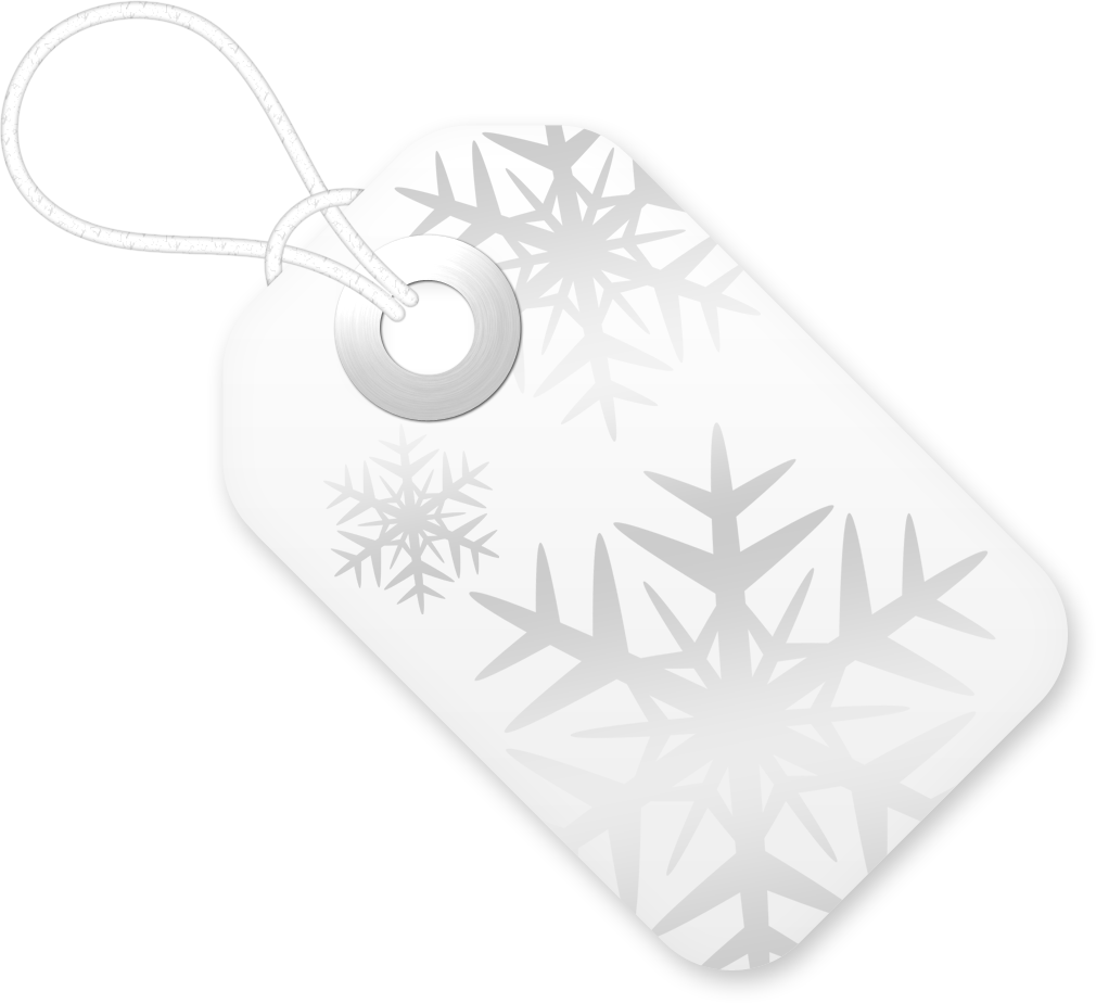 снежинки на бирке
