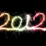 «Новый год 2012» огненная надпись - обои на рабочий стол