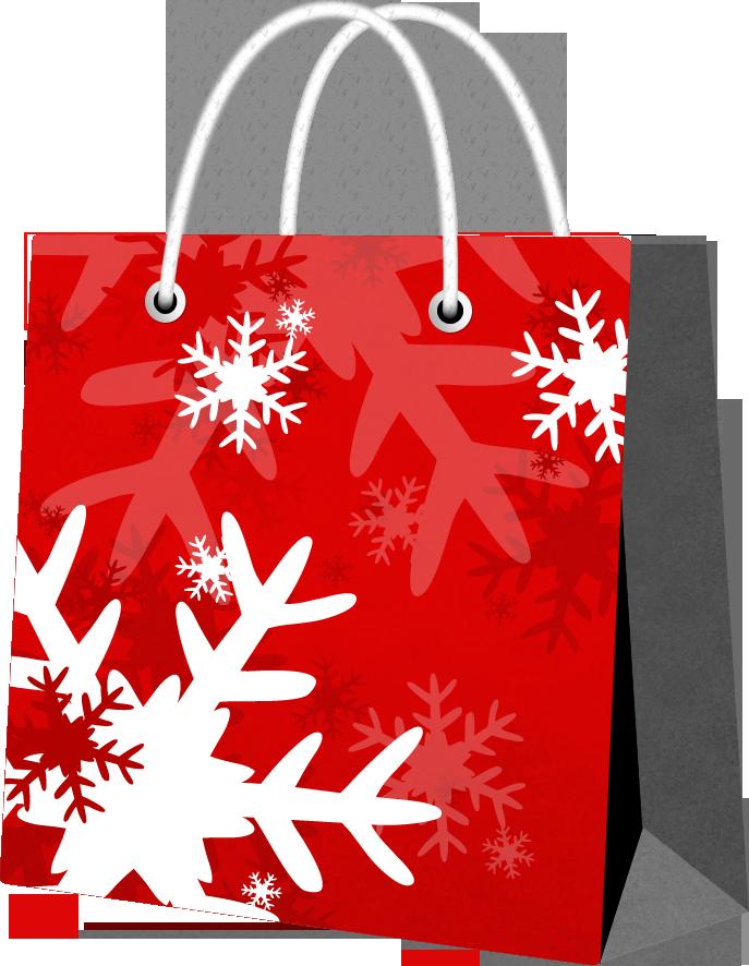 пакет со снежинками