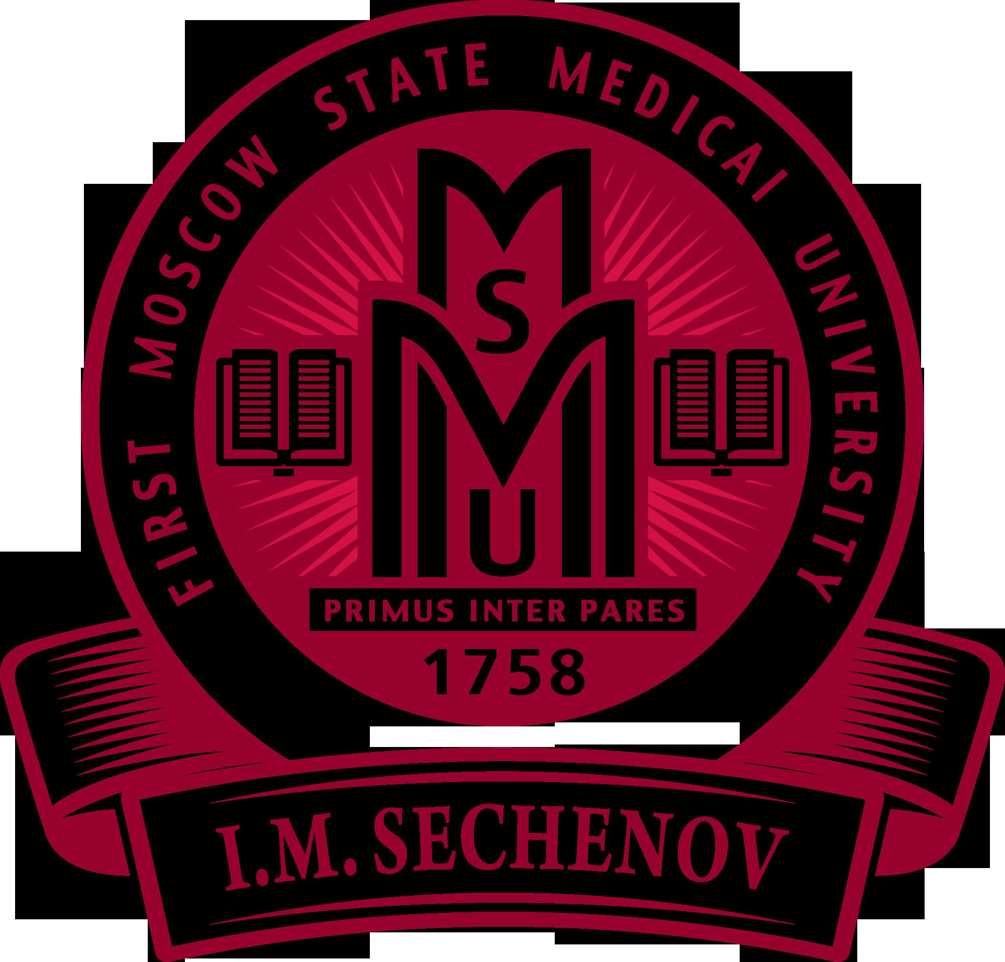 Эмблема (логотип) на английском языке Первого московского медицинского
