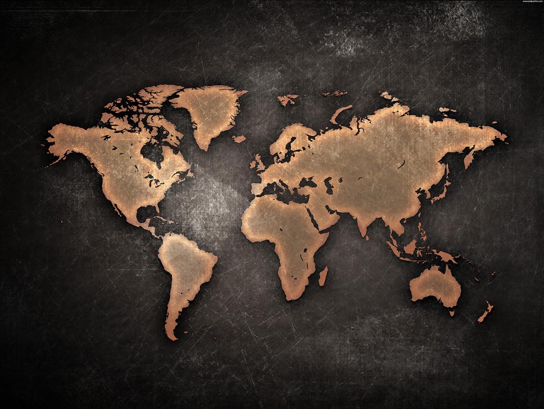 Карта мира в царапинах