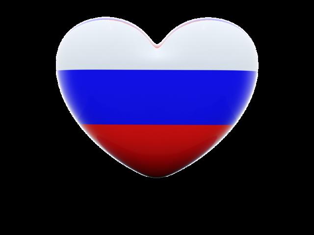 флаг России в виде сердца
