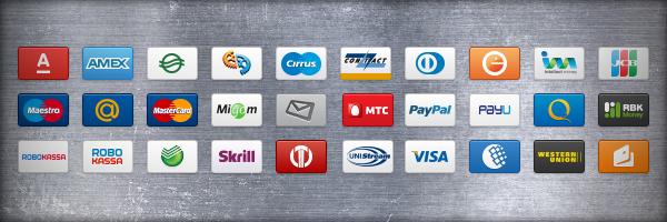 Иконки платежных систем в формате png