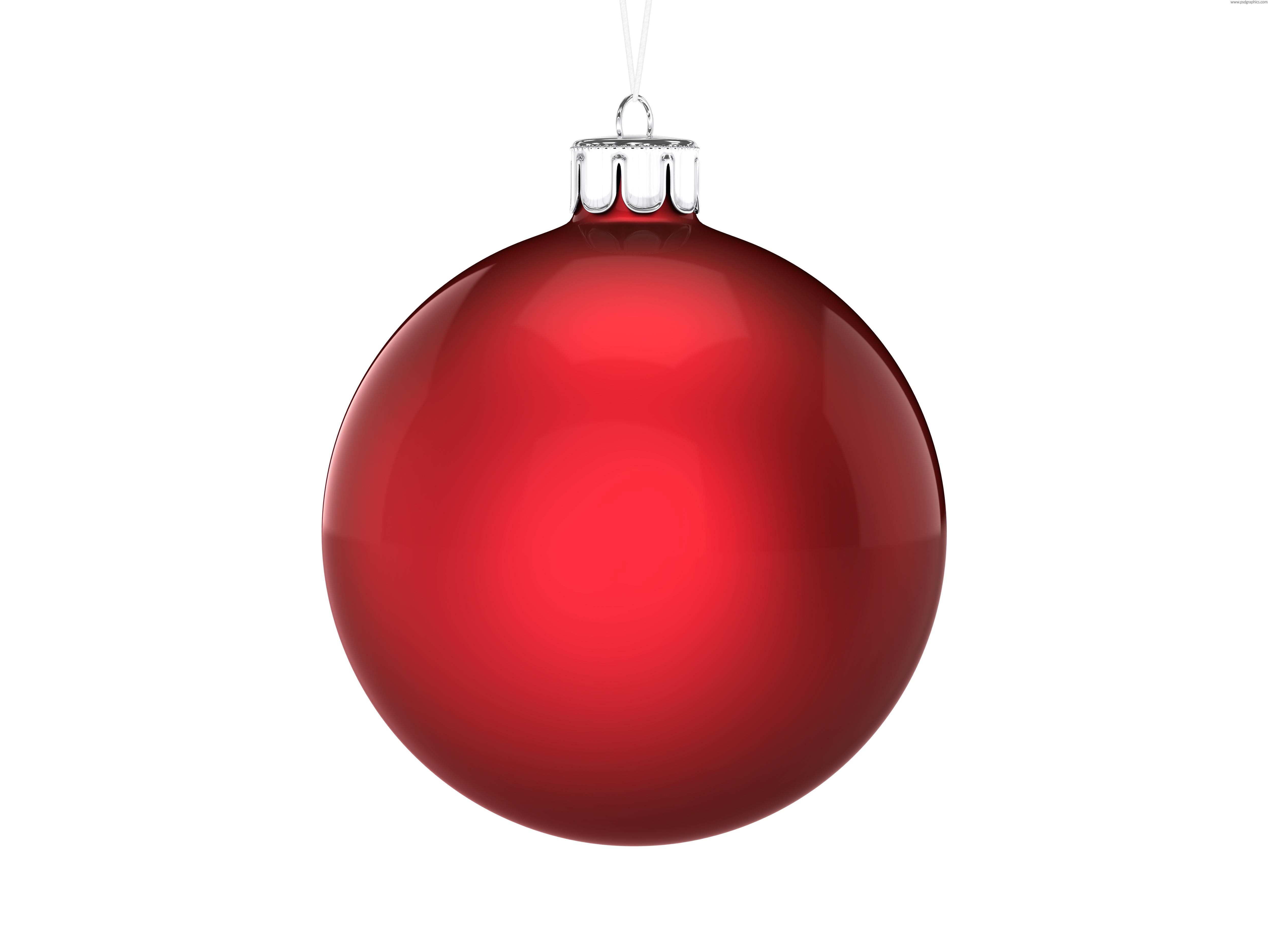 Красный елочный новогодний шар