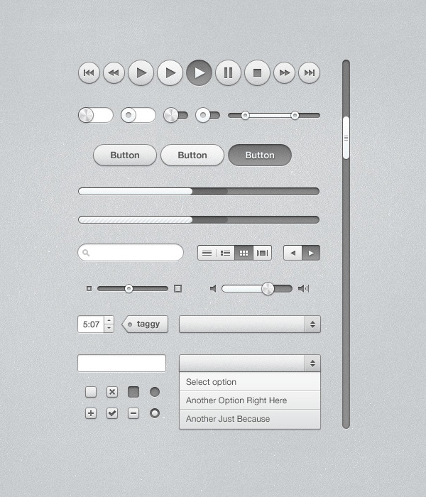 элементы управления интерфейса плеера