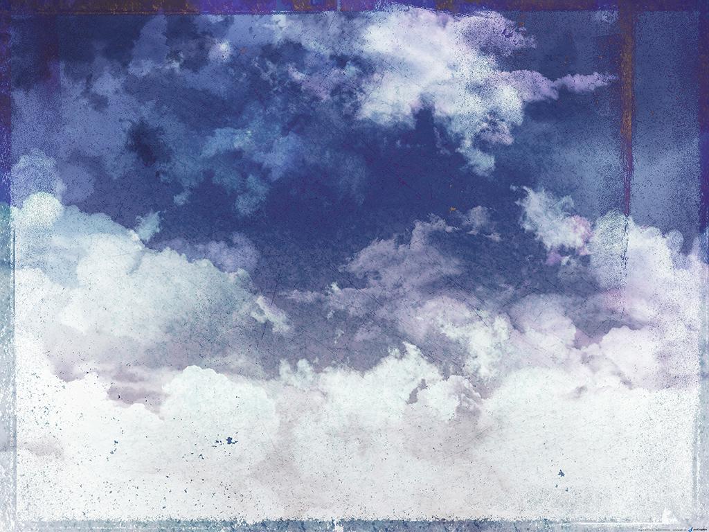 небо на старой фотографии