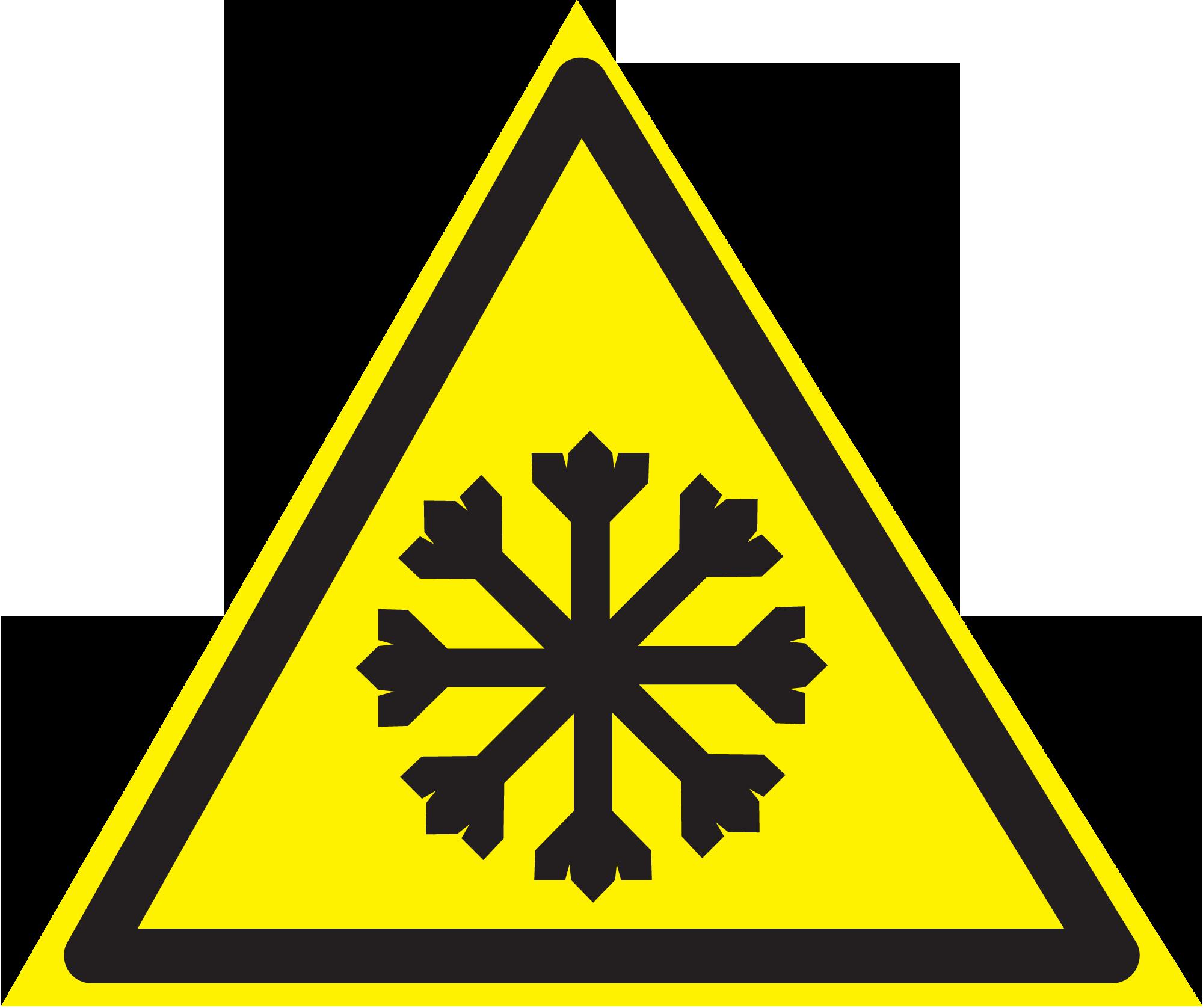 осторожно холодно знак