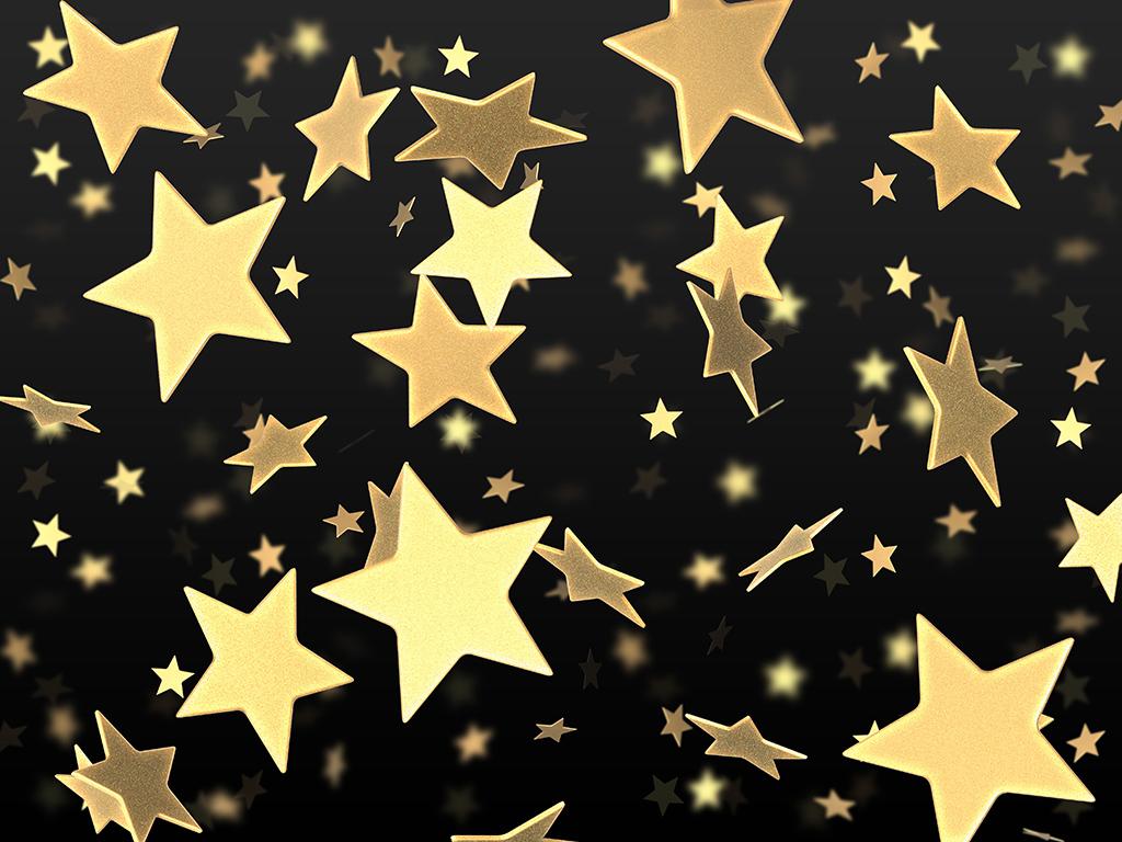 летящие золотые звезды