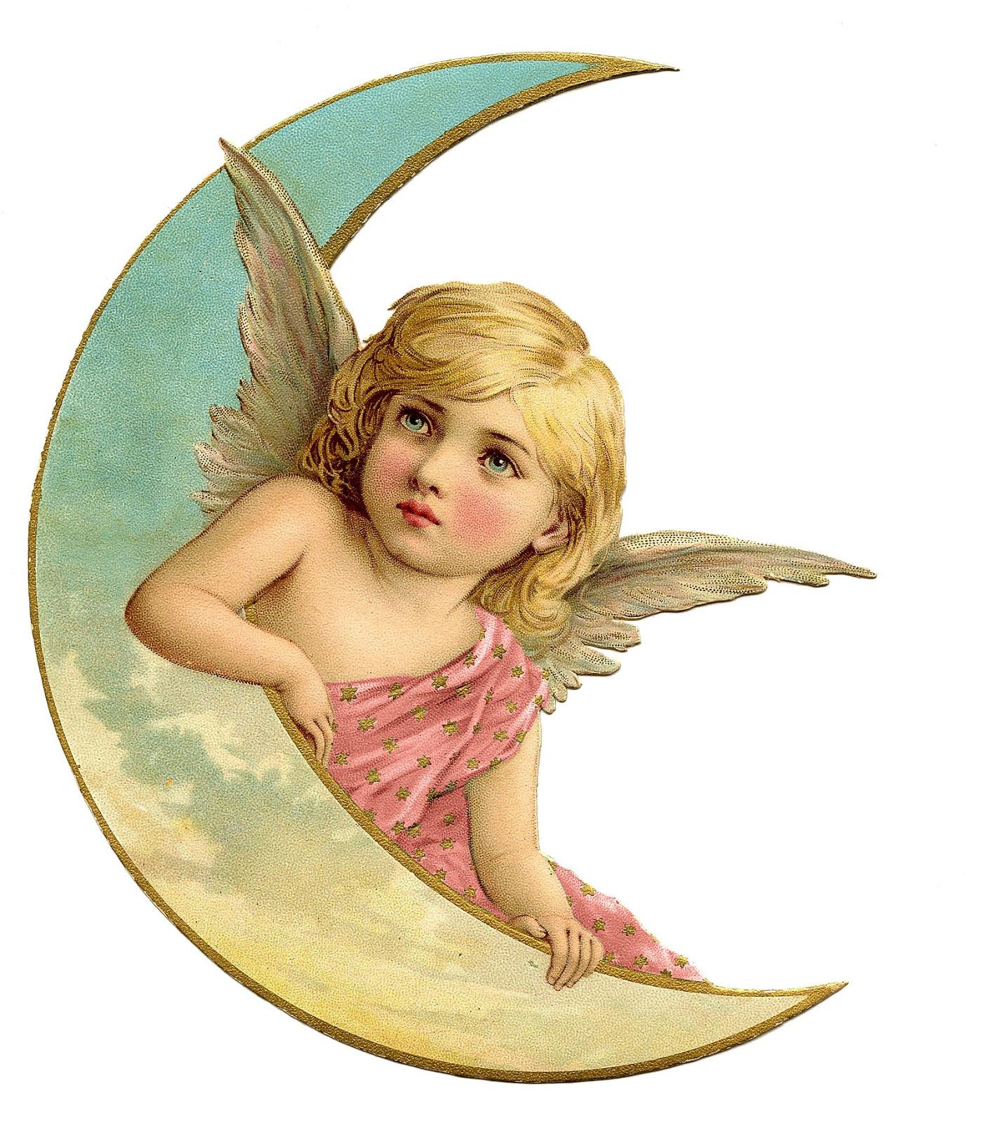 ангел на месяце