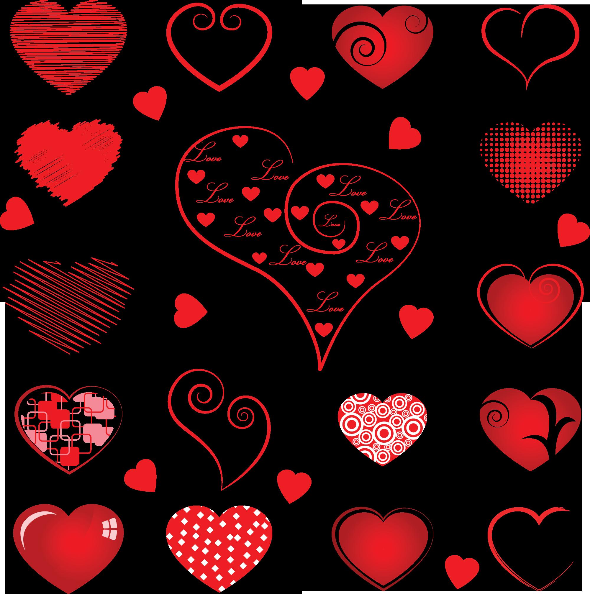 сердце в разных стилях
