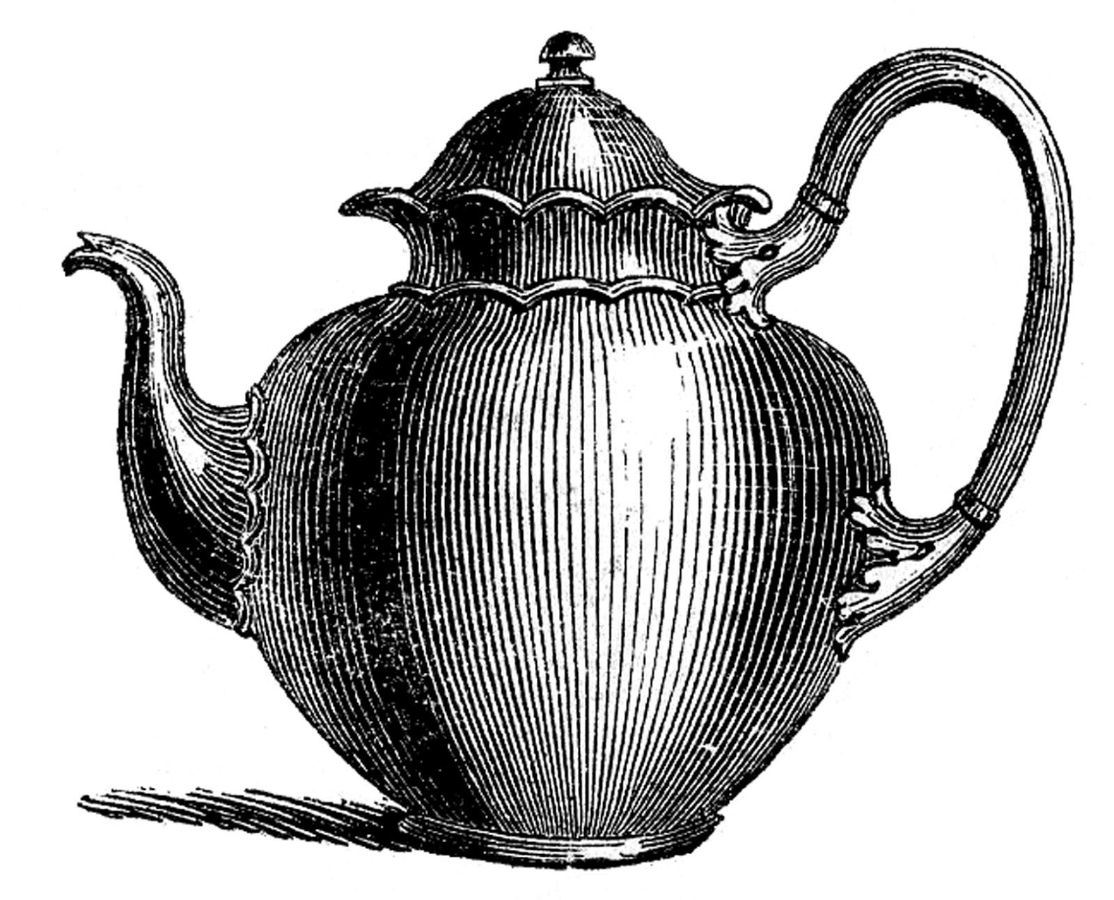 гравюра чайник