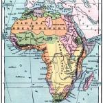 Карта Африки конца 19 века (1880 год)