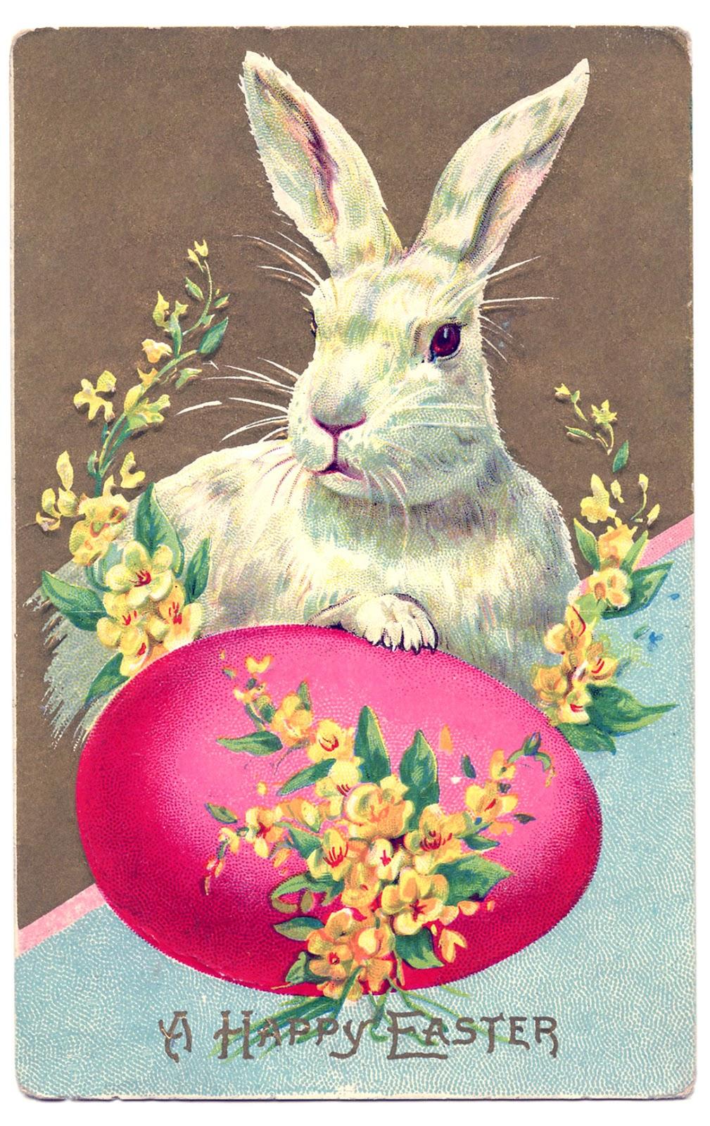 пасхальное яйцо и кролик