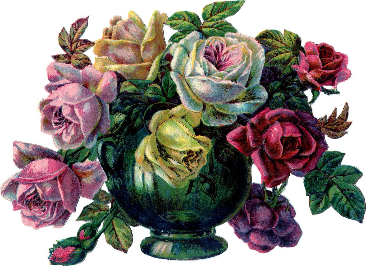 """рисунок """"Розы в вазе"""""""