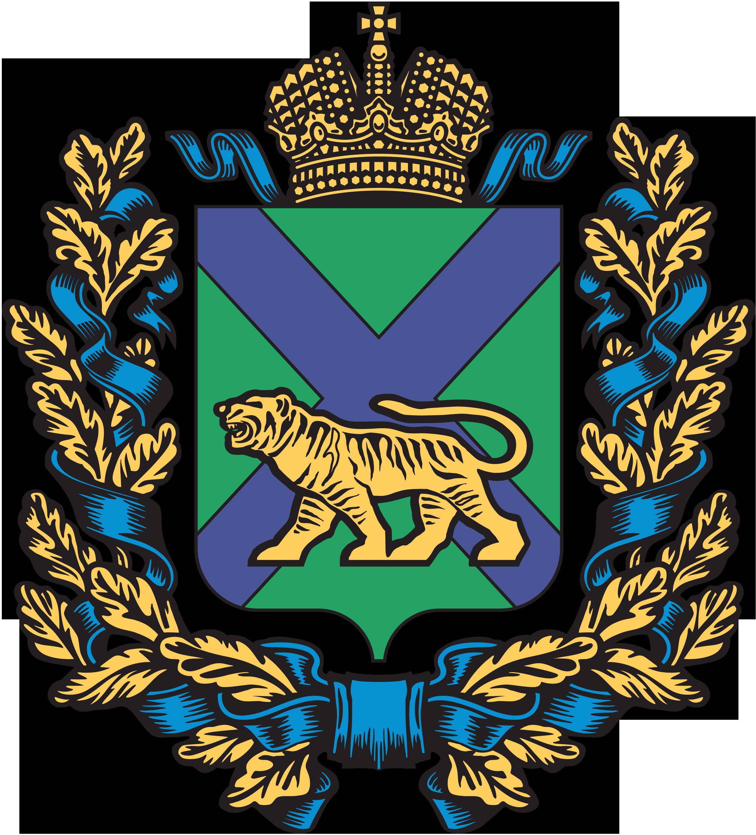 Парадный вариант герба Приморского края