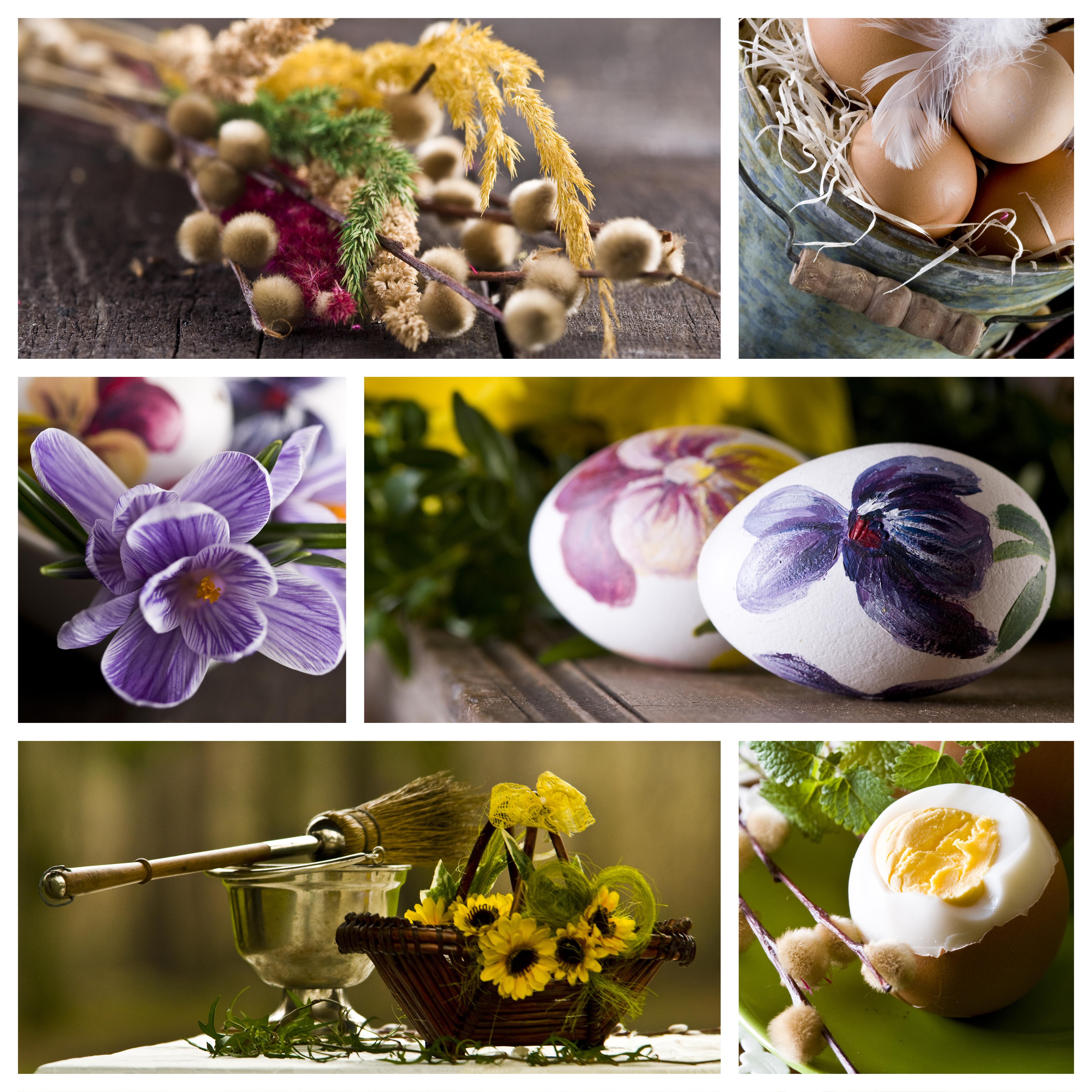 пасха, пасхальные яйца, верба