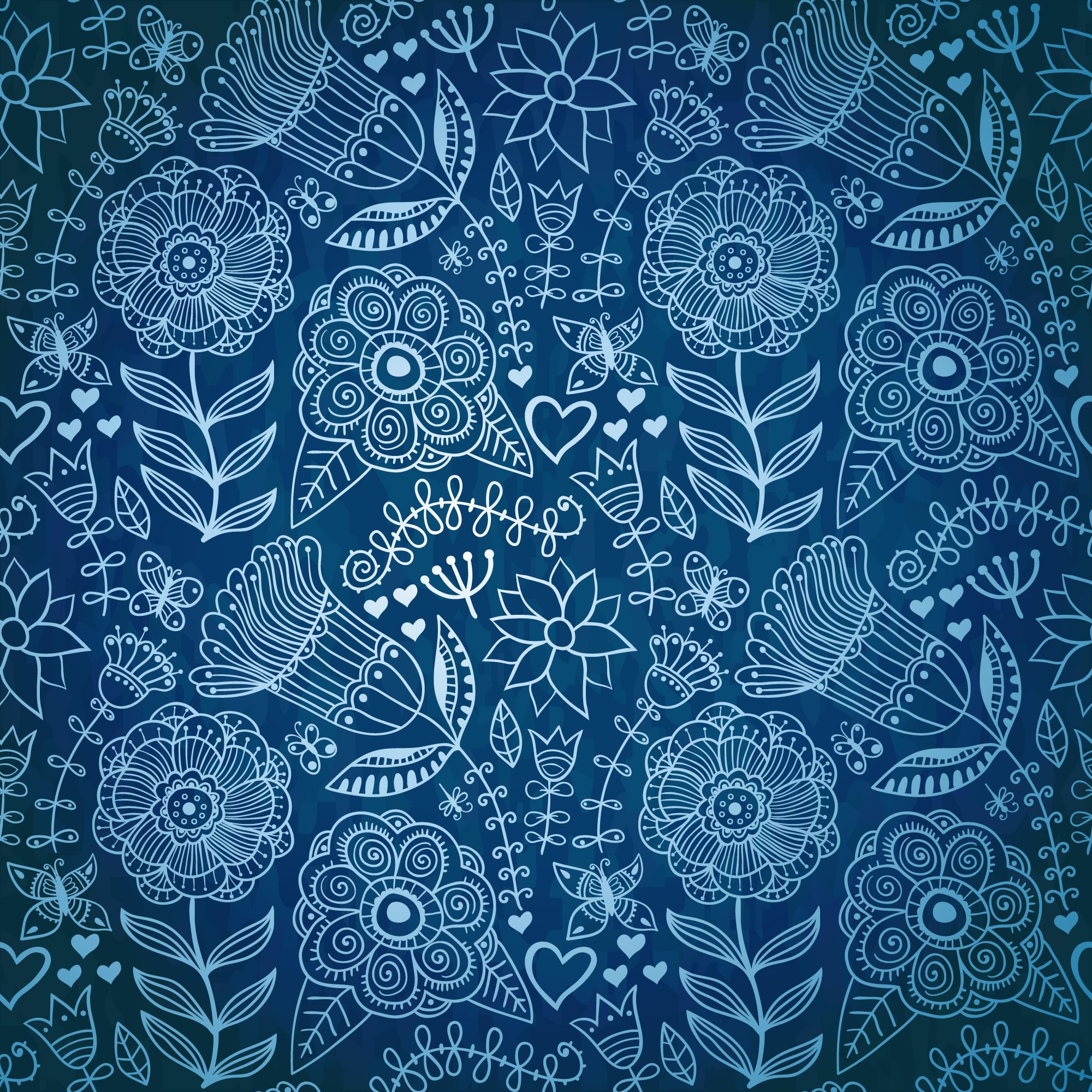 восточный цветочный узор паттерн