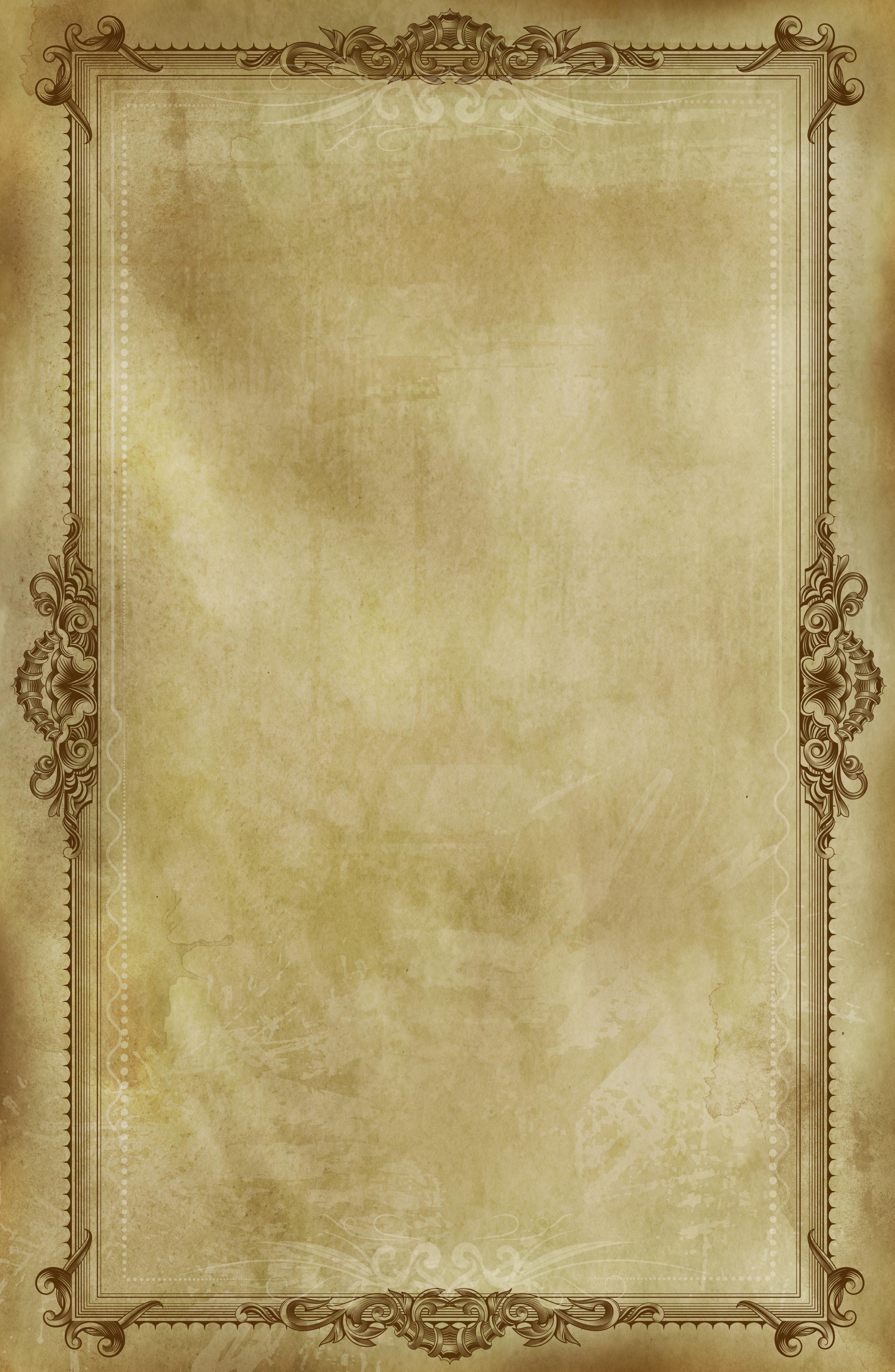 Состаренный лист с винтажной рамкой