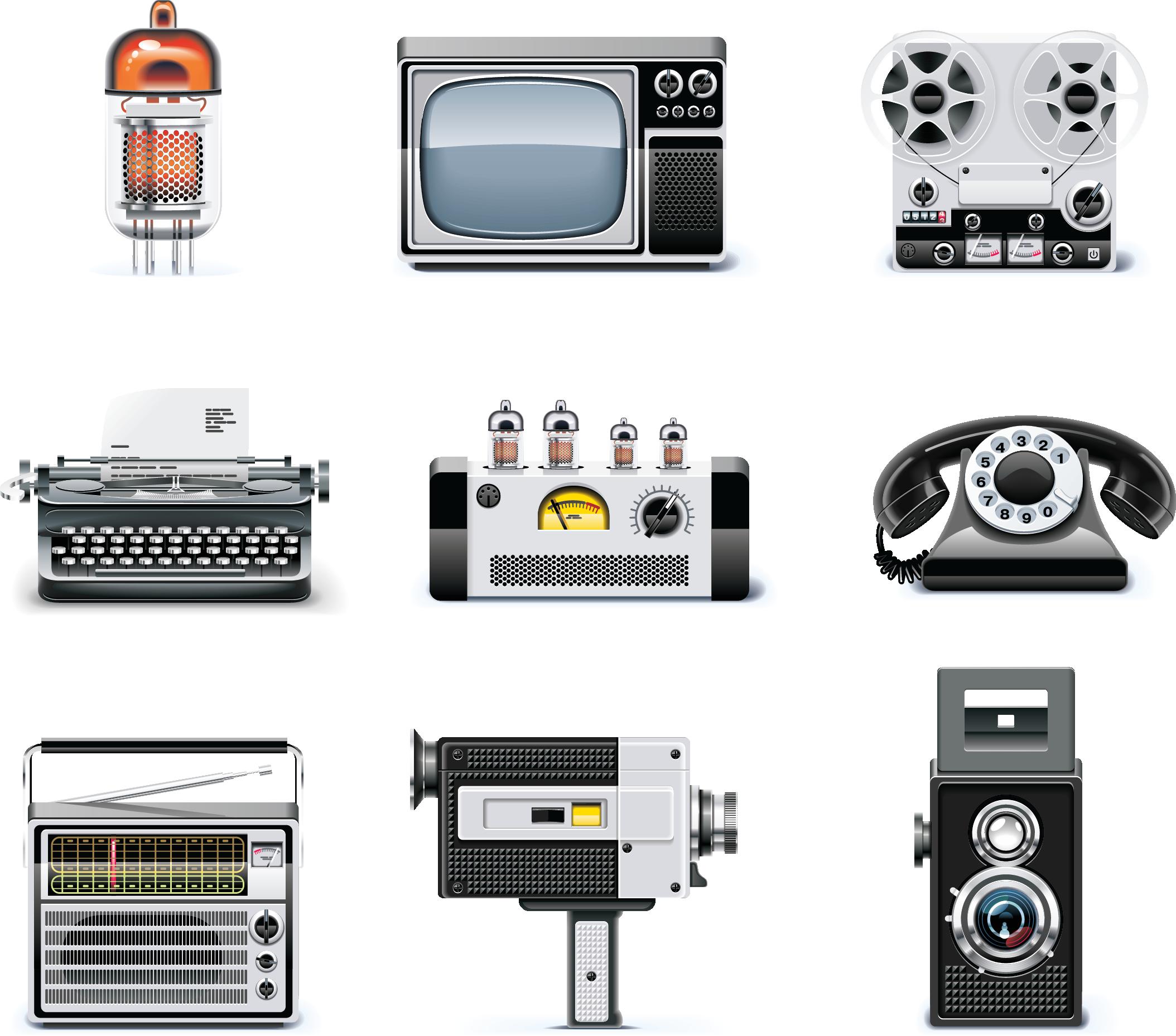 иконки ретро-предметы вещи