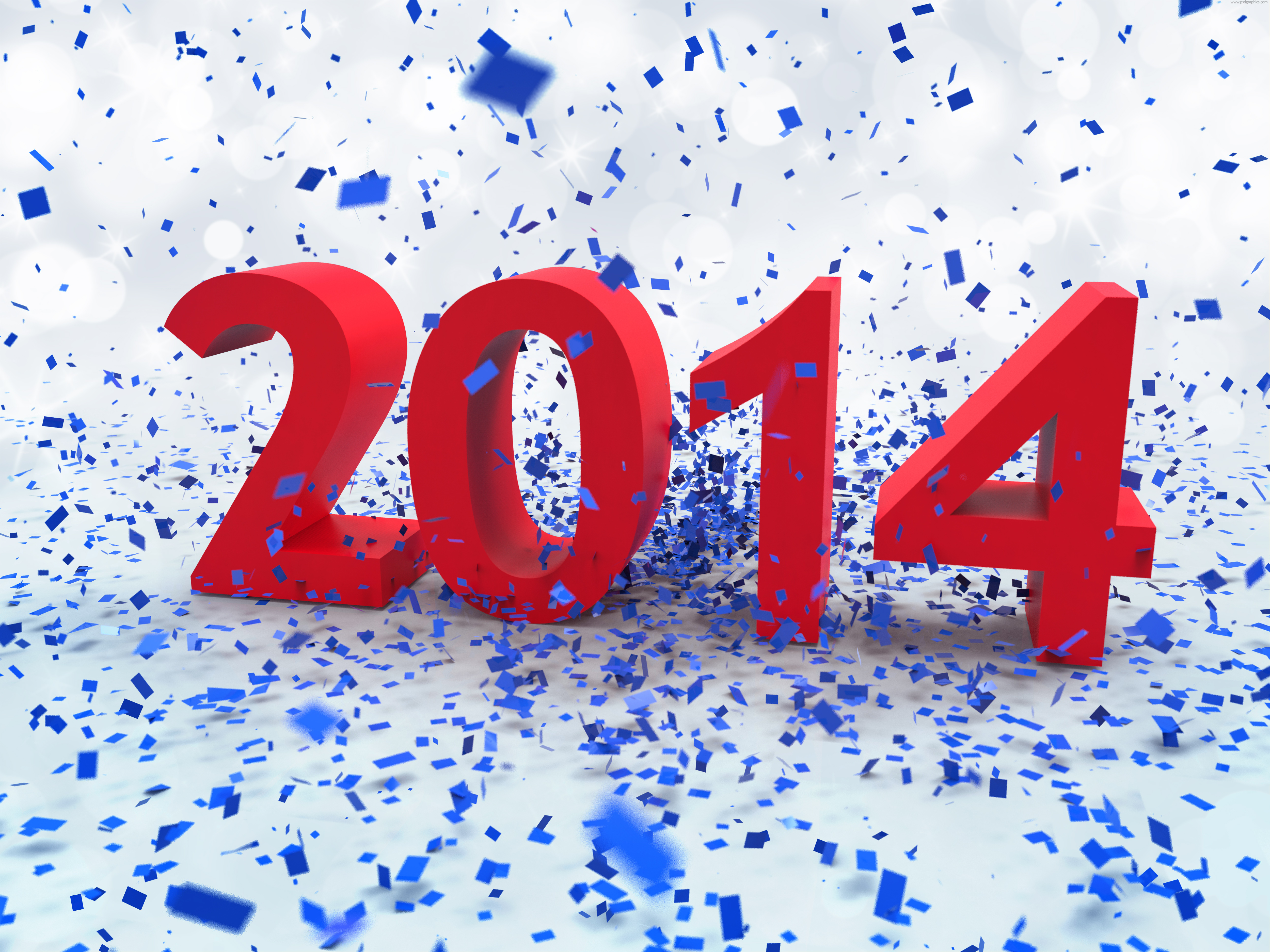 Новый год 2014 в конфетти
