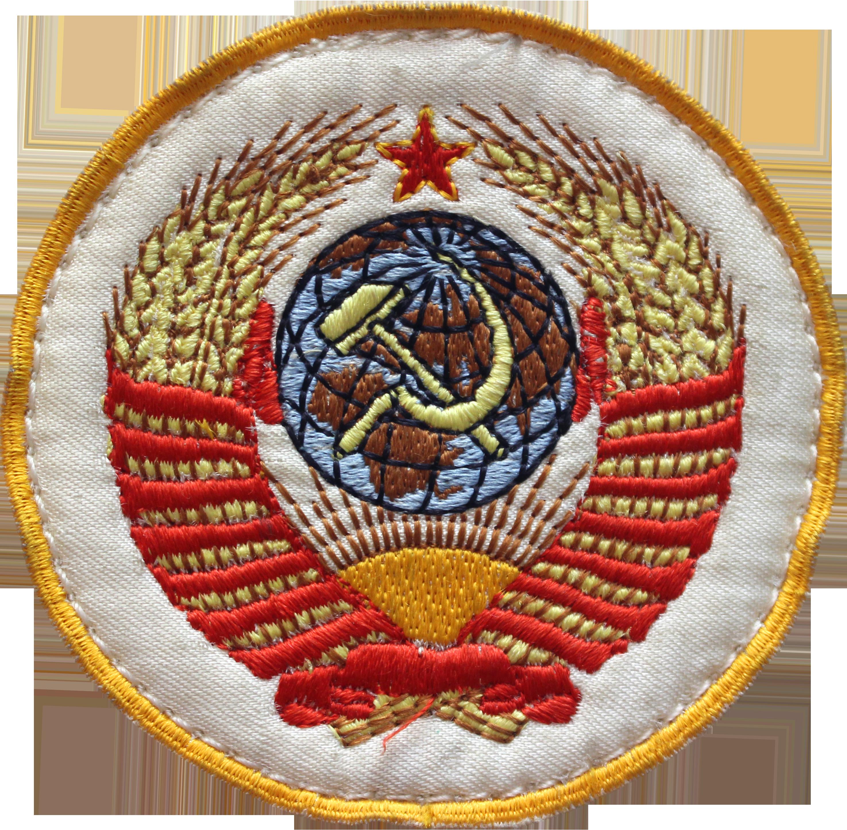 Герб СССР - нашивка со скафандра советского космонавта