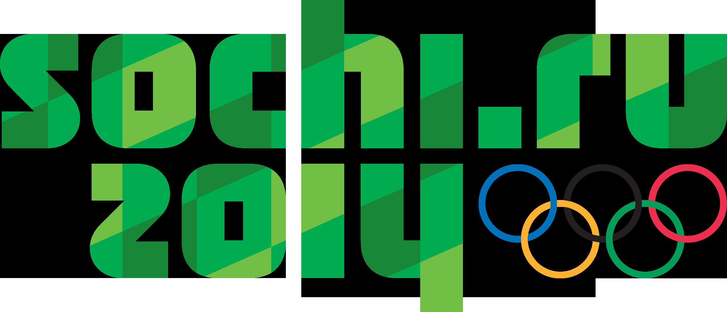 Зеленый (экологичный) векторный логотип (эмблема) олимпиады в Сочи 2014