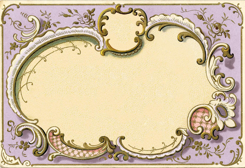 Рамка с винтажной французской открытки