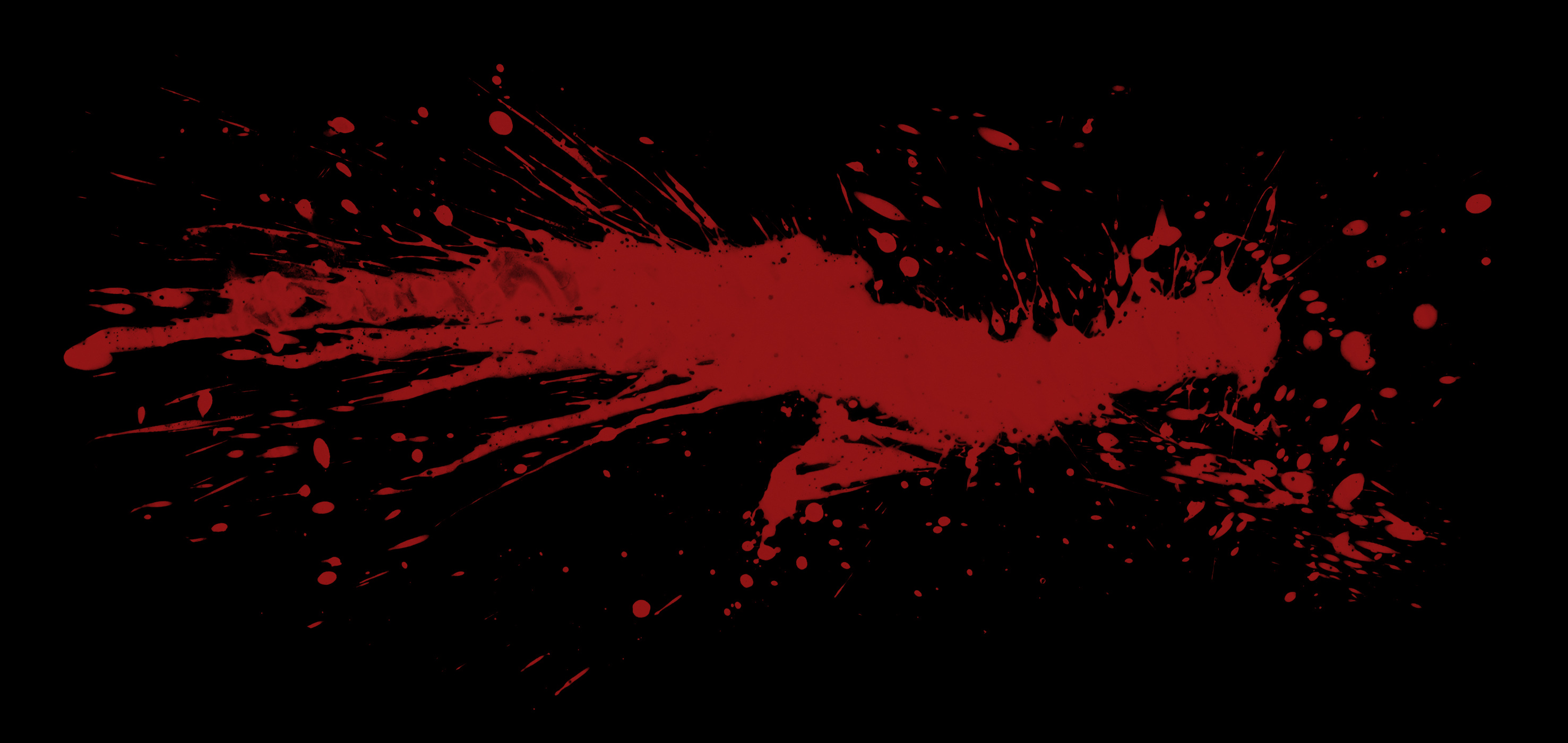 Кровь на темной стене
