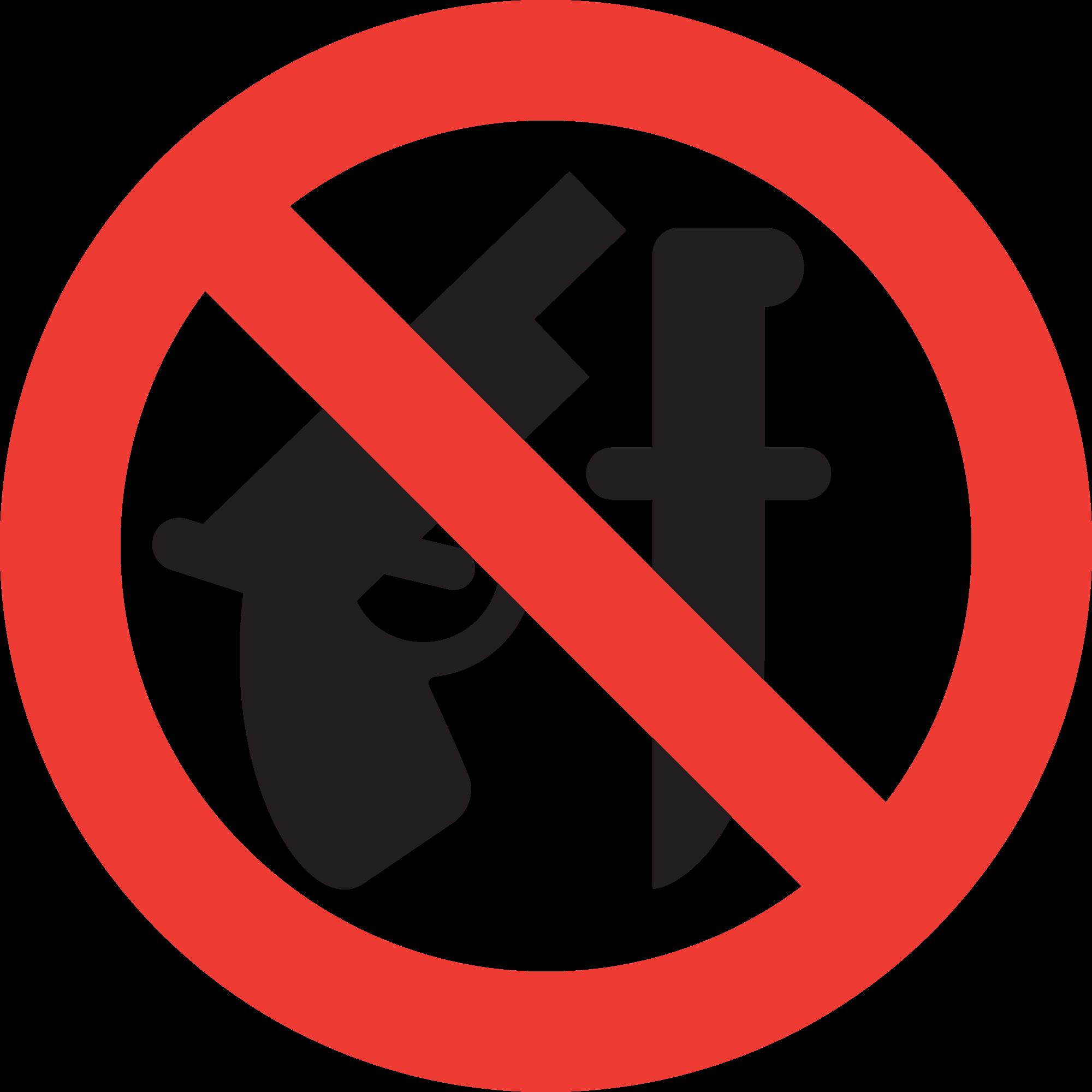 """Знак """"Оружие запрещено"""""""