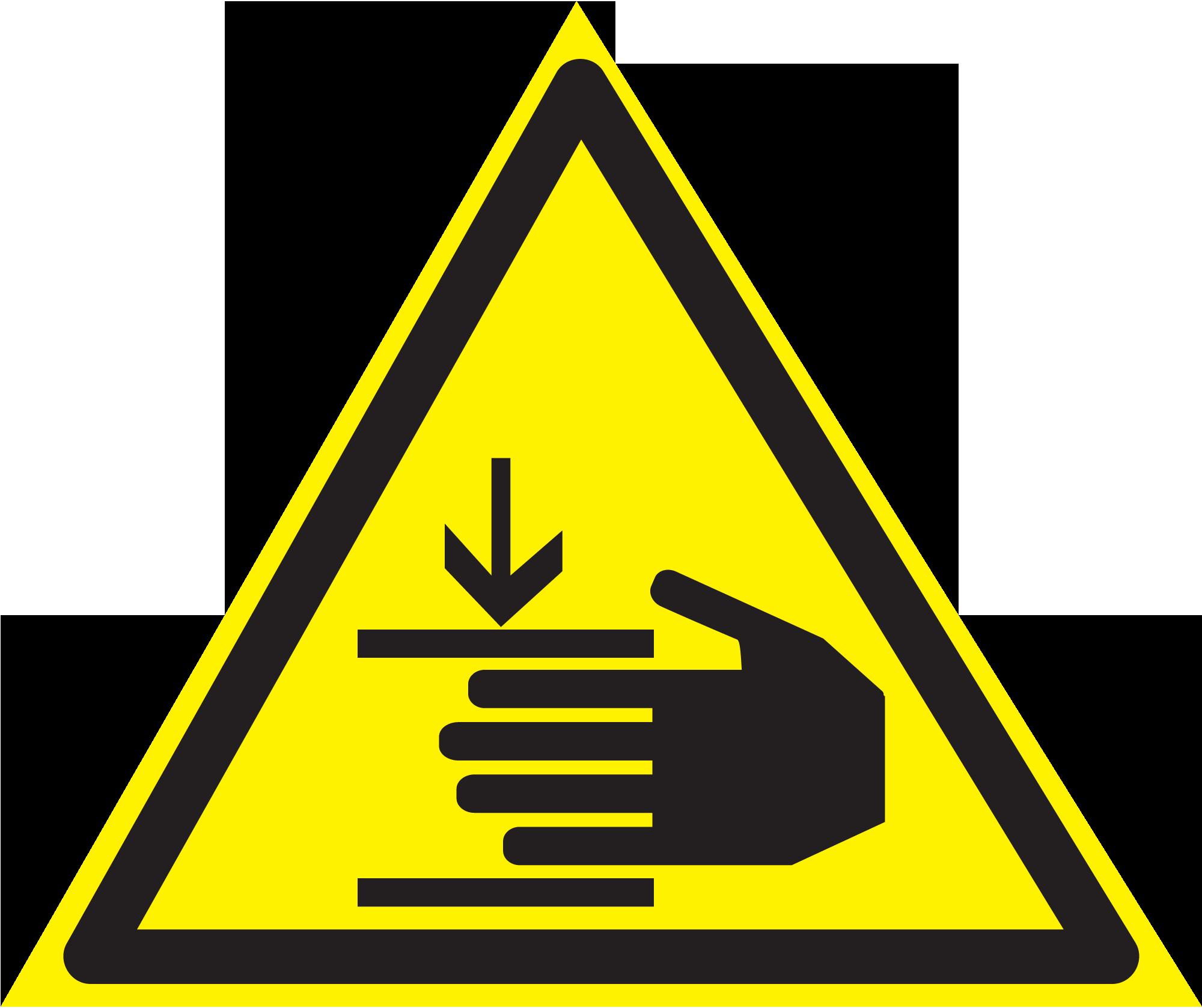 """знак """"Осторожно. Возможно травмирование рук"""" код W27"""