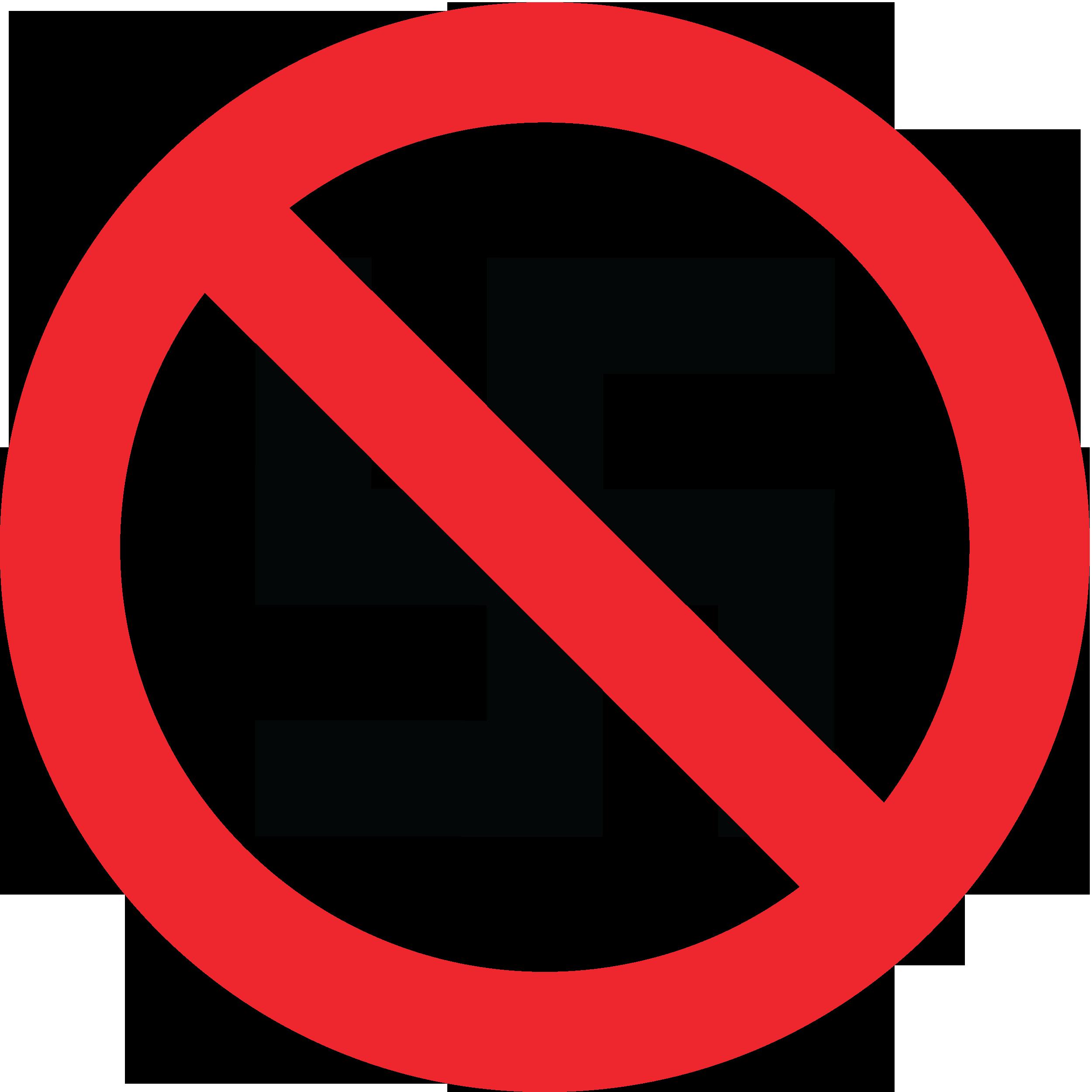 """Знак """"Фашизм запрещён!"""" (перечеркнутая нацистская свастика)"""