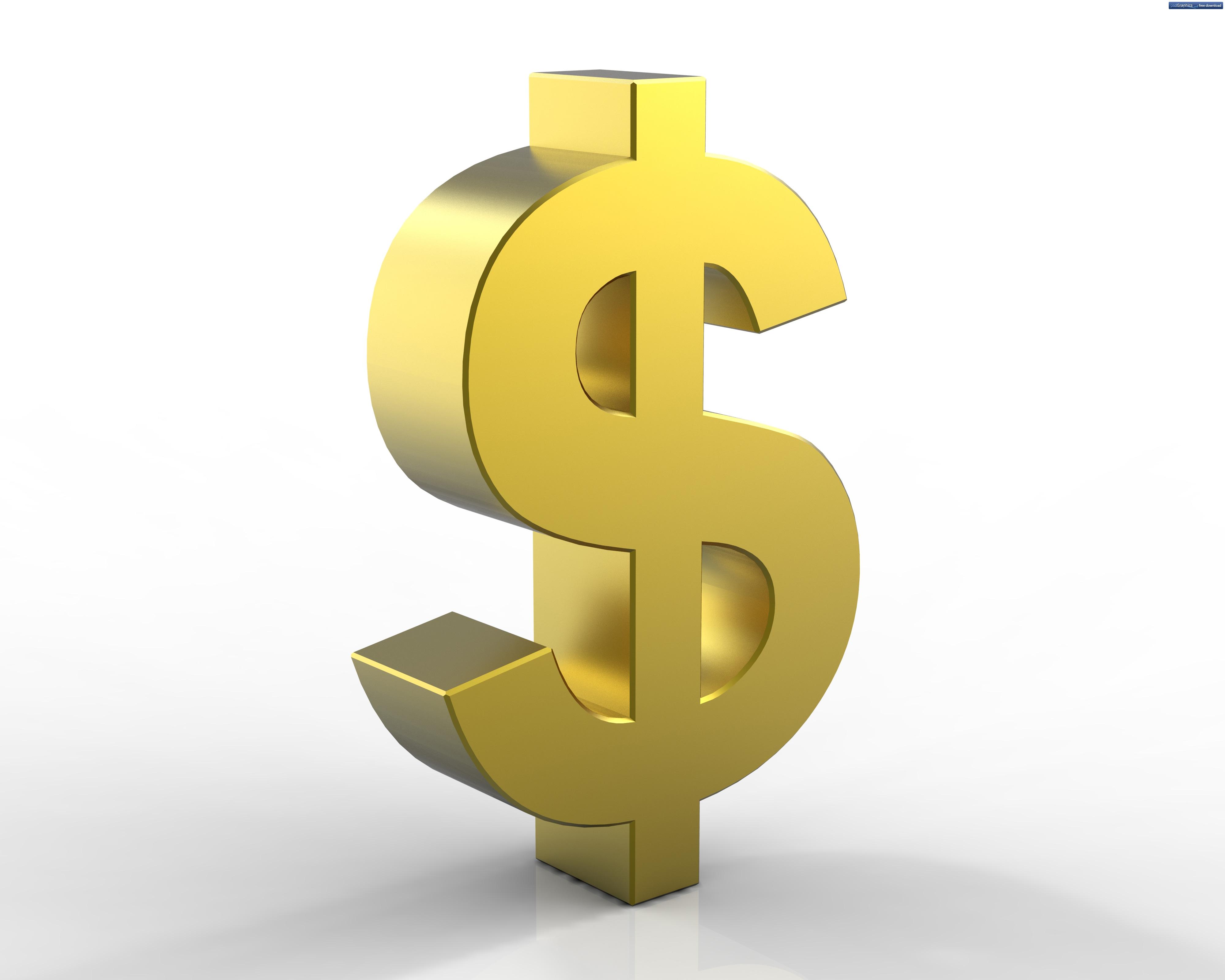 Золотой знак доллара $