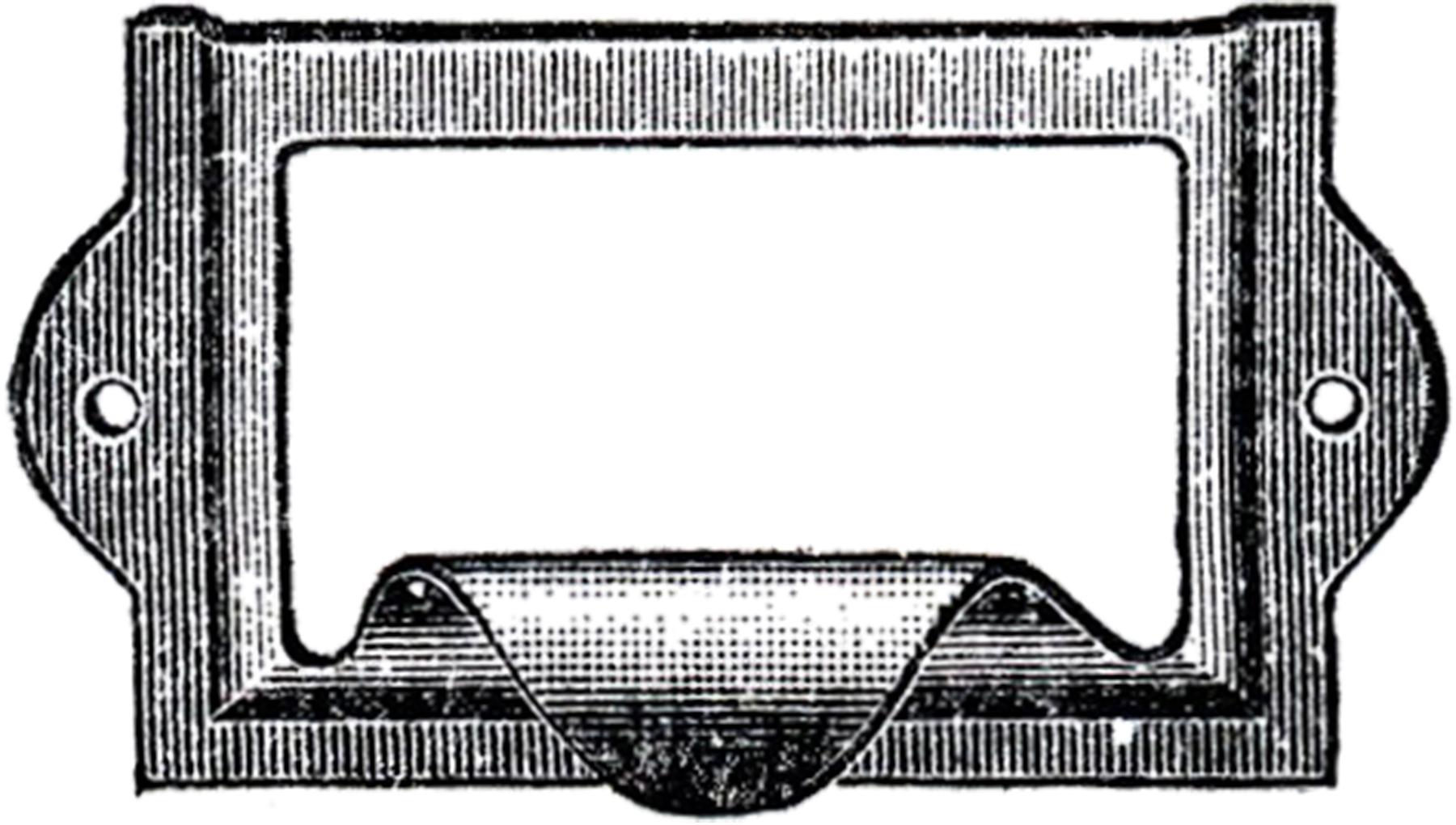 Рамка-ручка для надписей на архивных ящиках