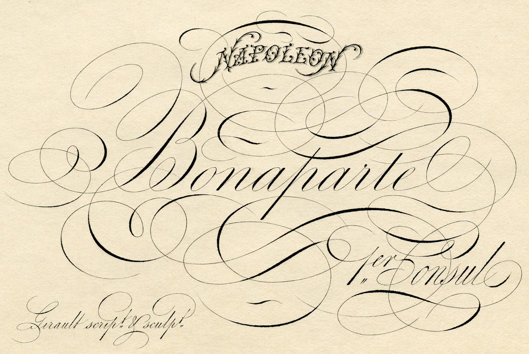 """Красивый росчерк с вензелями """"Наполеон Бонапарт"""""""