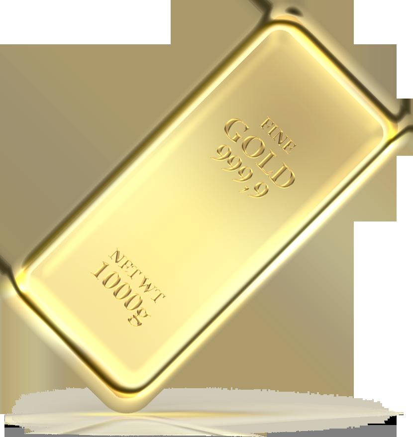 Золотой слиток в формате png
