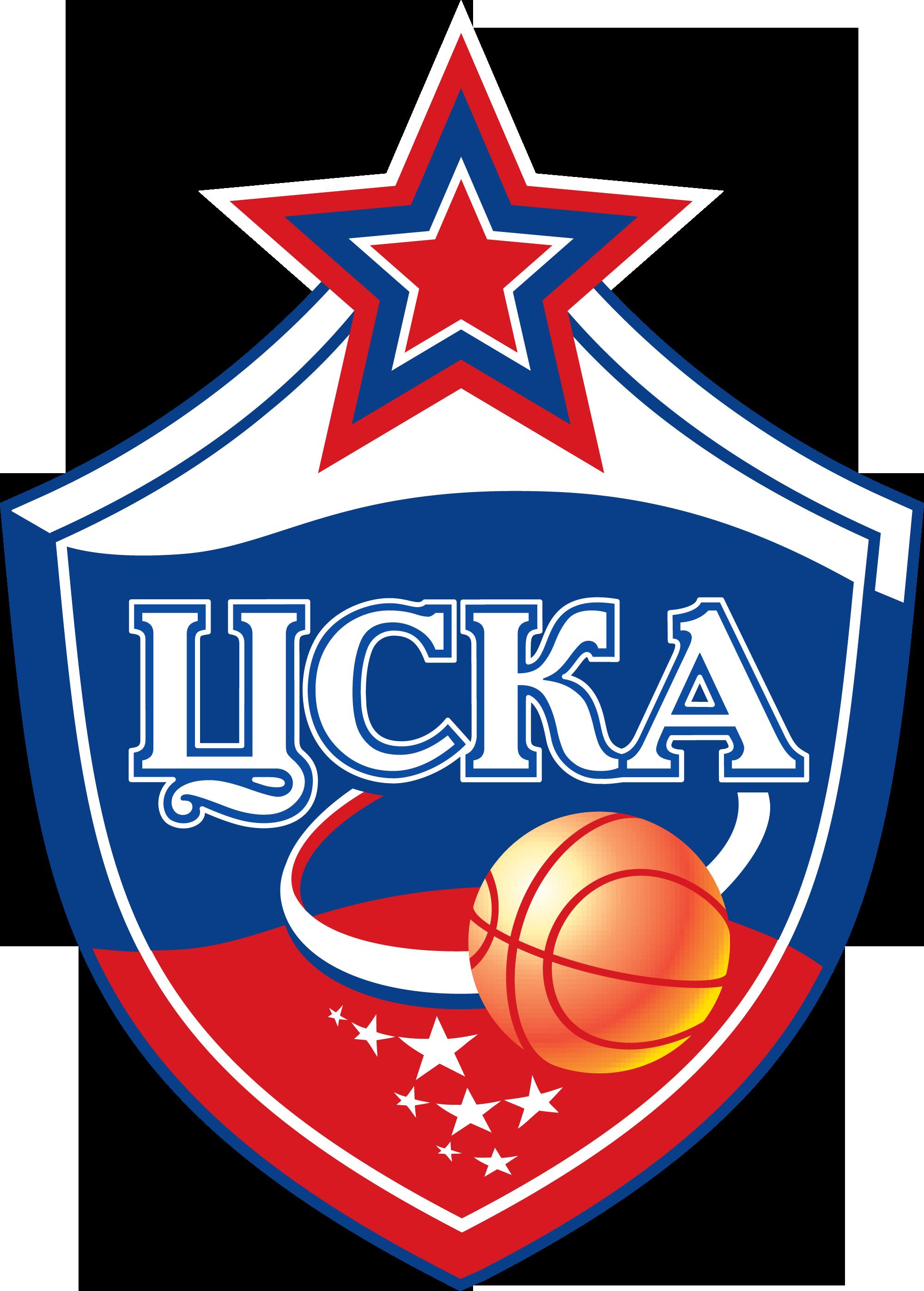 Векторная эмблема (логотип) баскетбольного клуба ЦСКА