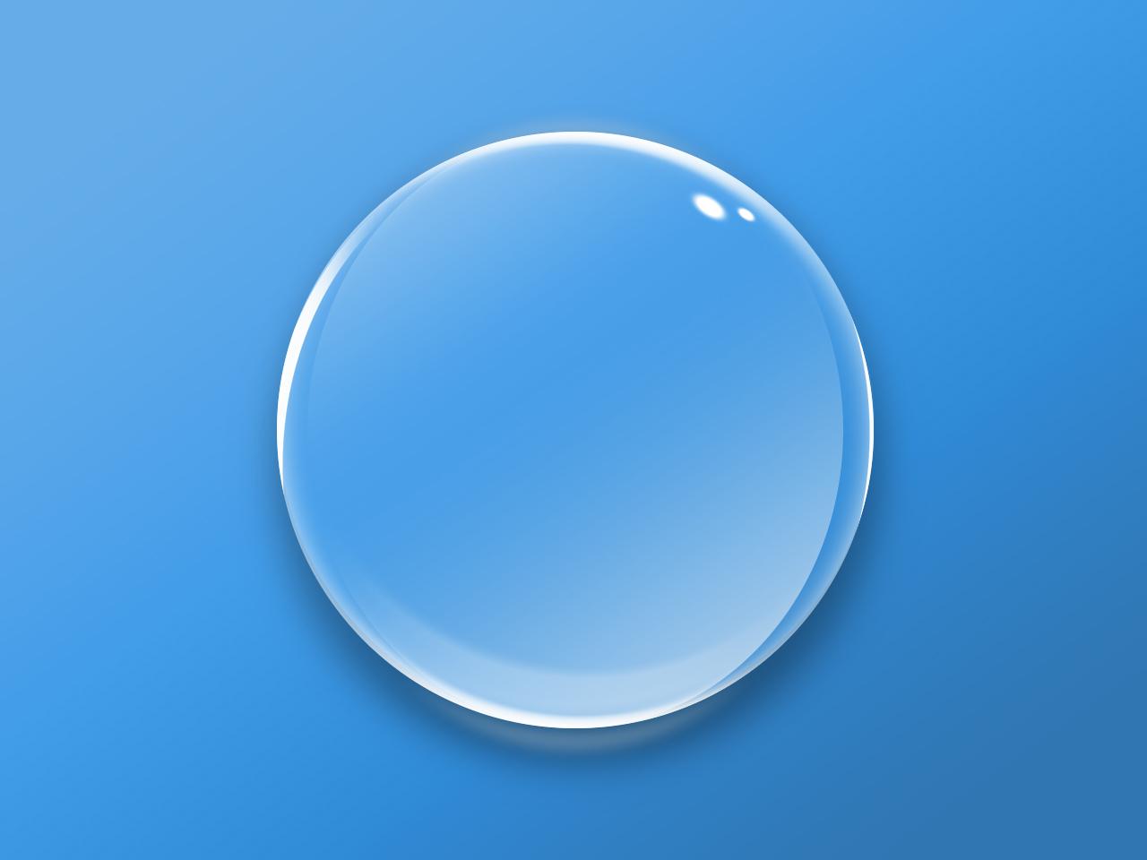 Прозрачная круглая кнопка в формате PSD