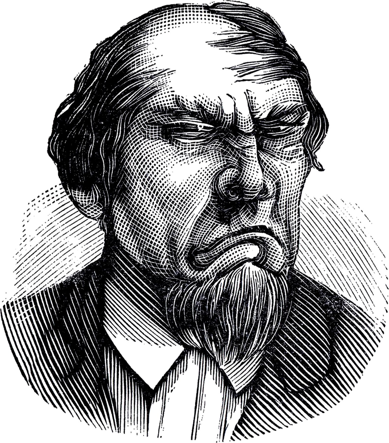"""Рисунок """"Образ сварливого, недовольного, ворчливого человека"""""""