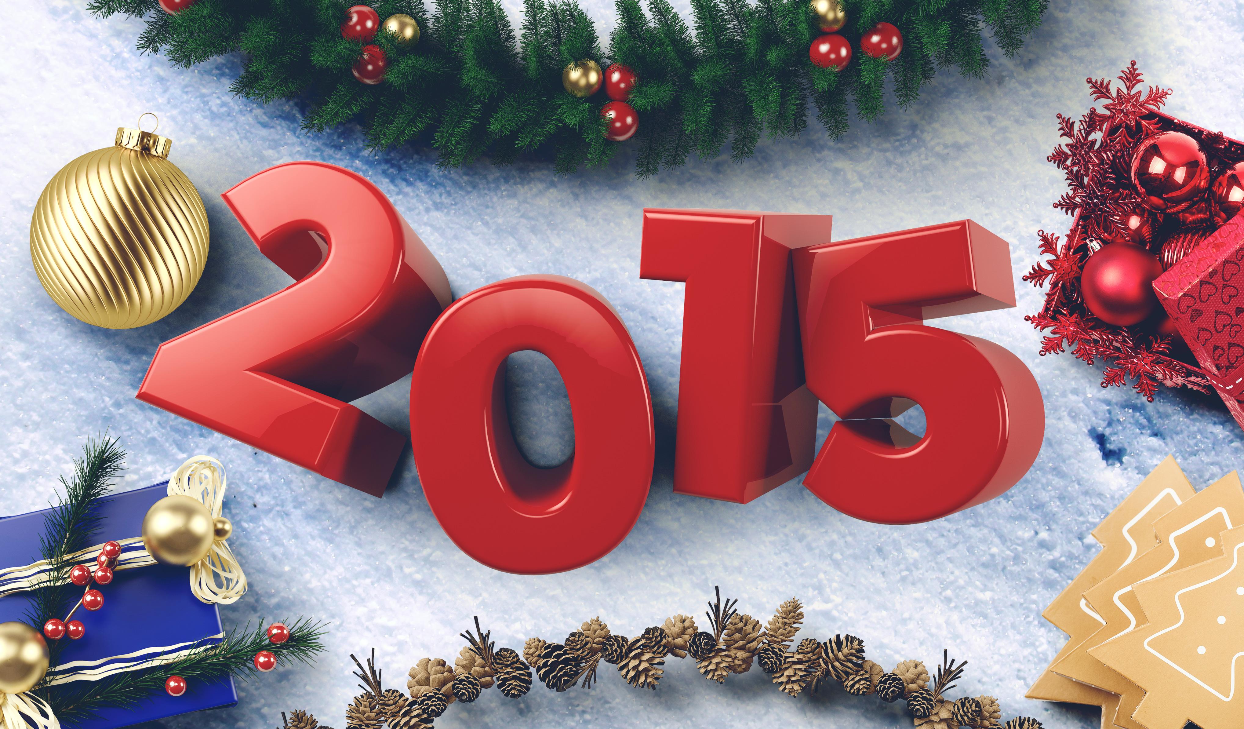 Новогодние обои 2015