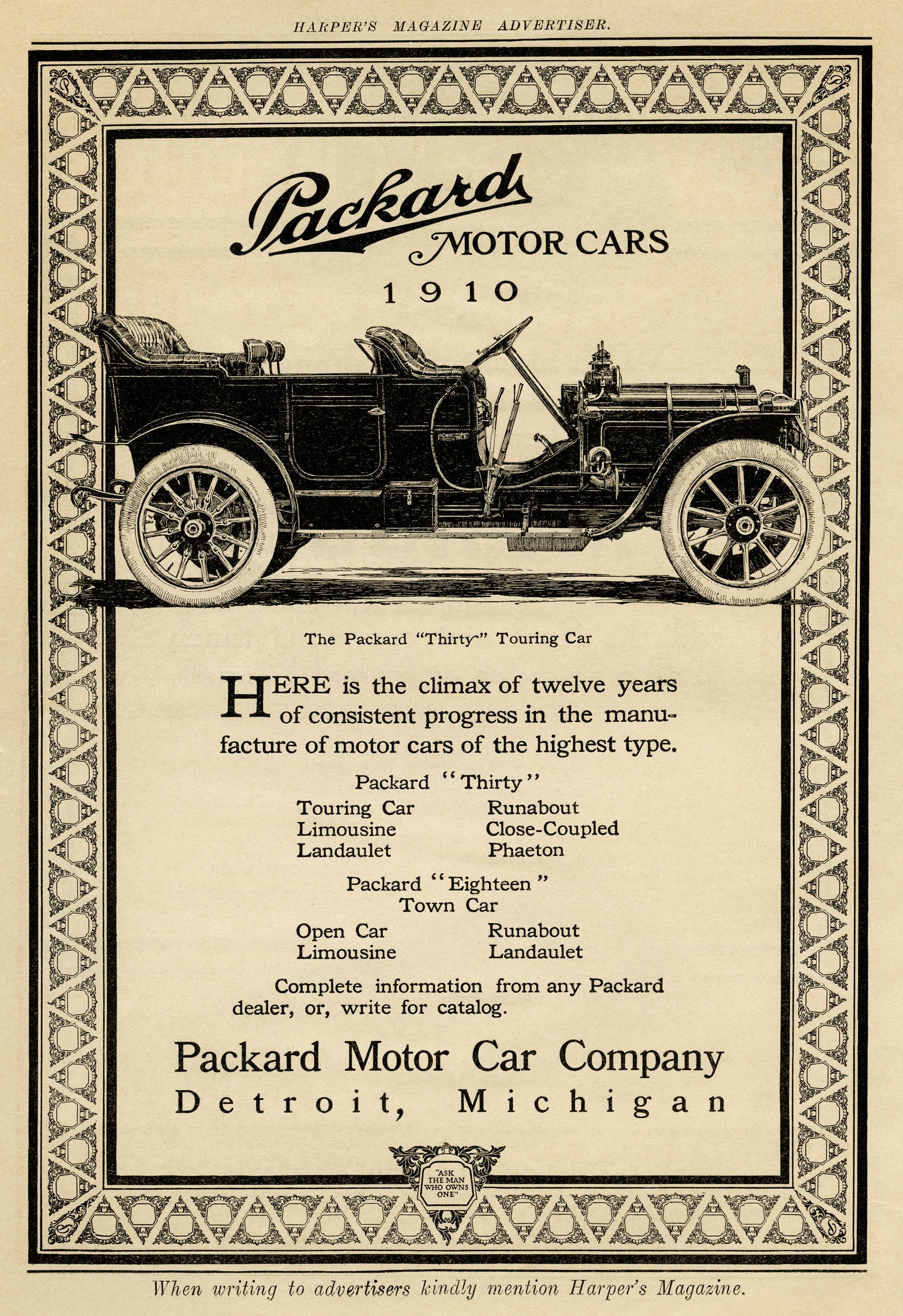 Voiture Vintage Ancienne Packard Dessin Noir Et Blanc De La