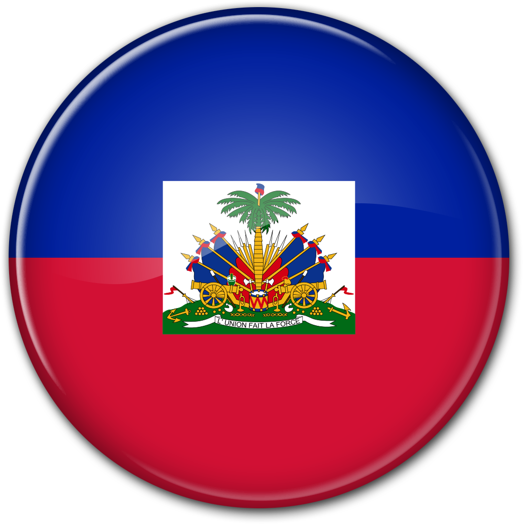 Круглый флаг Гаити