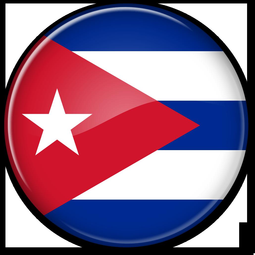 Круглый флаг Кубы