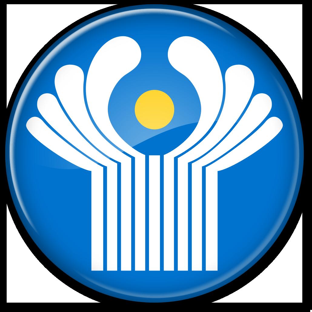 Круглый флаг-кнопка СНГ (Содружество Независимых Государств)